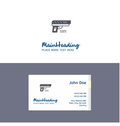 flat gun logo and visiting card template busienss vector image