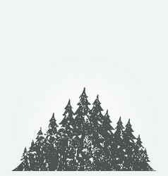 Forest landscape3 vector