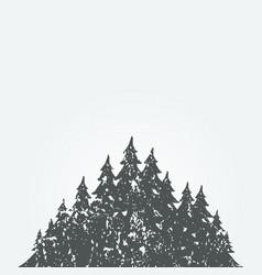 forest landscape3 vector image