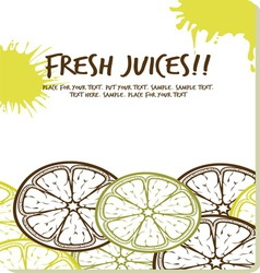 fresh juices1 vector image
