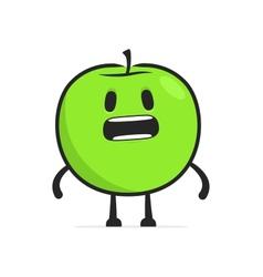 funny cartoon apple vector image vector image