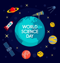 Global science day concept background flat style vector