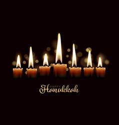 happy hanukkach day card template vector image