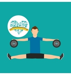 Heart weight loss sport person excercise vector