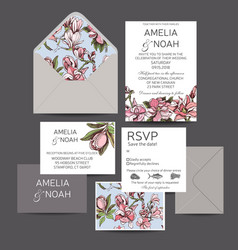 Invitation for the wedding card with vector