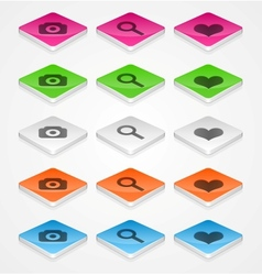 Isometric icons vector image