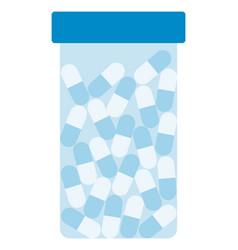 jar pharmaceutical capsules icon flat isolated vector image