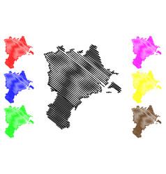 lucerne map vector image