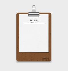 Menu restaurant template vector