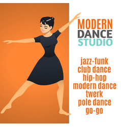 Modern dance studio template vector