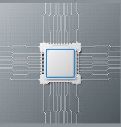 modern design technology with microchip vector image