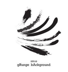 modern textured grunge brush stroke black vector image