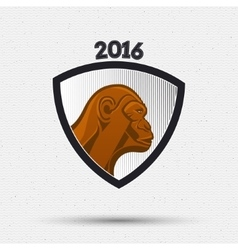 Monkey insignia and labels for any use vector image
