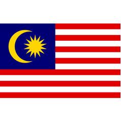 national flag of malaysia vector image