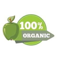 Natural organic fruits logo label badge template vector image