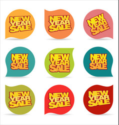 new year sale modern price tag vector image