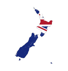new zealand country silhouette with flag on vector image