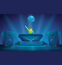 Nightclub party concept banner cartoon style vector
