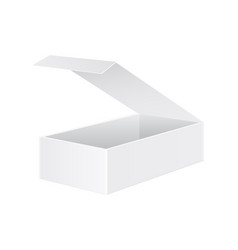 open white box mockup 3d vector image