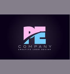 Pe alphabet letter join joined letter logo design vector