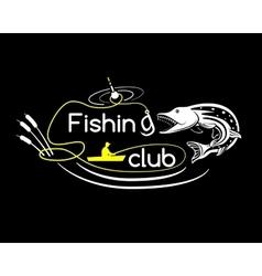 Pike fishing club vector