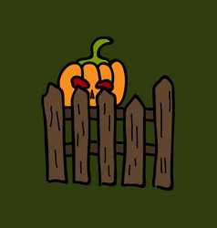 Pumpkin realistic halloween harvest thanksgiving vector