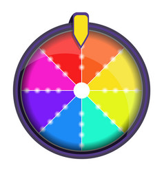 Rainbow wheel fortune icon cartoon style vector