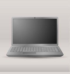 realistic laptop isolated on transparent vector image