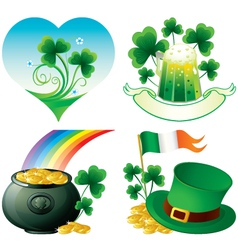 saint patrick day icons vector image