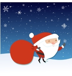 Santa Claus with big red sack Santa holding vector