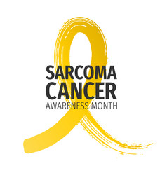 sarcoma cancer awareness month banner vector image