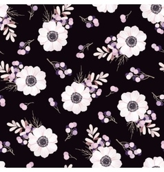 seamless pattern with flower bouquet vector image
