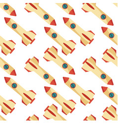 seamless pattern with space rocket vector image