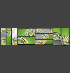 set baseball banners vector image
