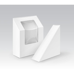 Set of White Take Away Boxes For Sandwich vector