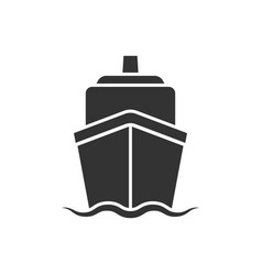 ship cruise sign icon in flat style cargo boat on vector image