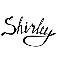 Shirley name lettering vector