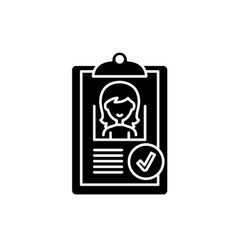 status approved black icon sign on vector image
