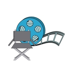 tape reel with cinema icon vector image