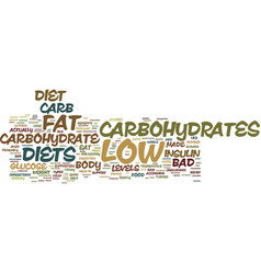The basis for low carb diets text background word vector