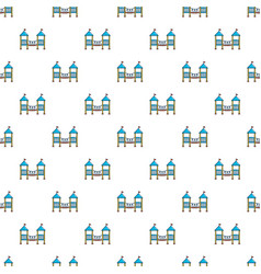 two castle kid pattern seamless vector image