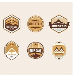 Vintage Outdoor Camp Badges and Logo Emblems vector