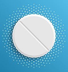 White pill on a blue background vector