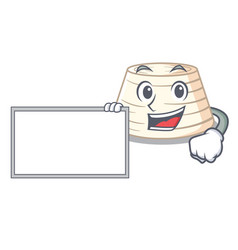 With board ricotta cheese icon in character vector