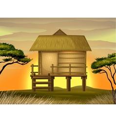 Bamboo hut vector