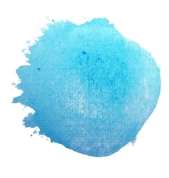 Blue circle stylish watercolor background vector image