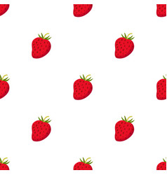 cartoon berries pattern ripe organic vitamin vector image