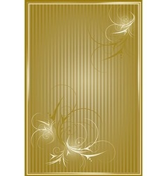 Gold striped background vector image vector image