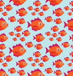 tropical fish pattern vector image