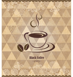 Black coffee vintage pattern vector image vector image